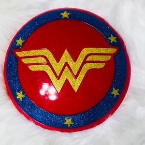 Wonder Woman glitter shield great costume